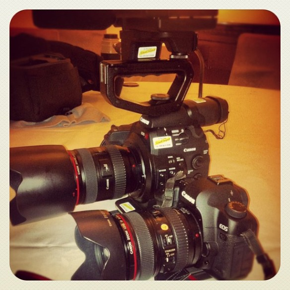 Canon C300 and 5D Mark II (2) side by side