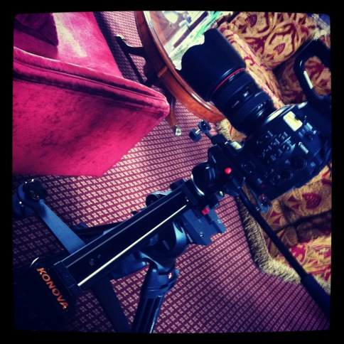 Canon EOS C300 on a slider, Konova Slider, Manfrotto 504 HD
