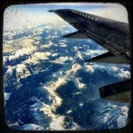 Plane flight over the alps - taken with Instagram, iPhone 4