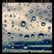 Raindrops on the window - Instagram iPhone 4 photo